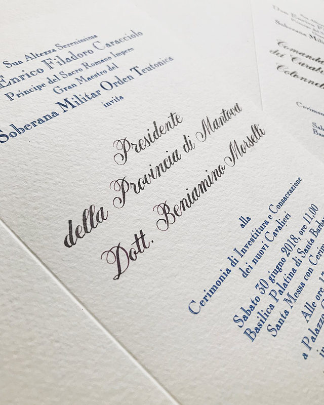CALLIGRAPHY INVITATIONS, ORDINE TEUTONICO