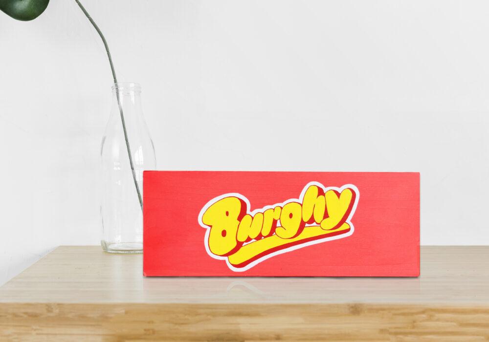 BURGHY WOOD SIGN 100€