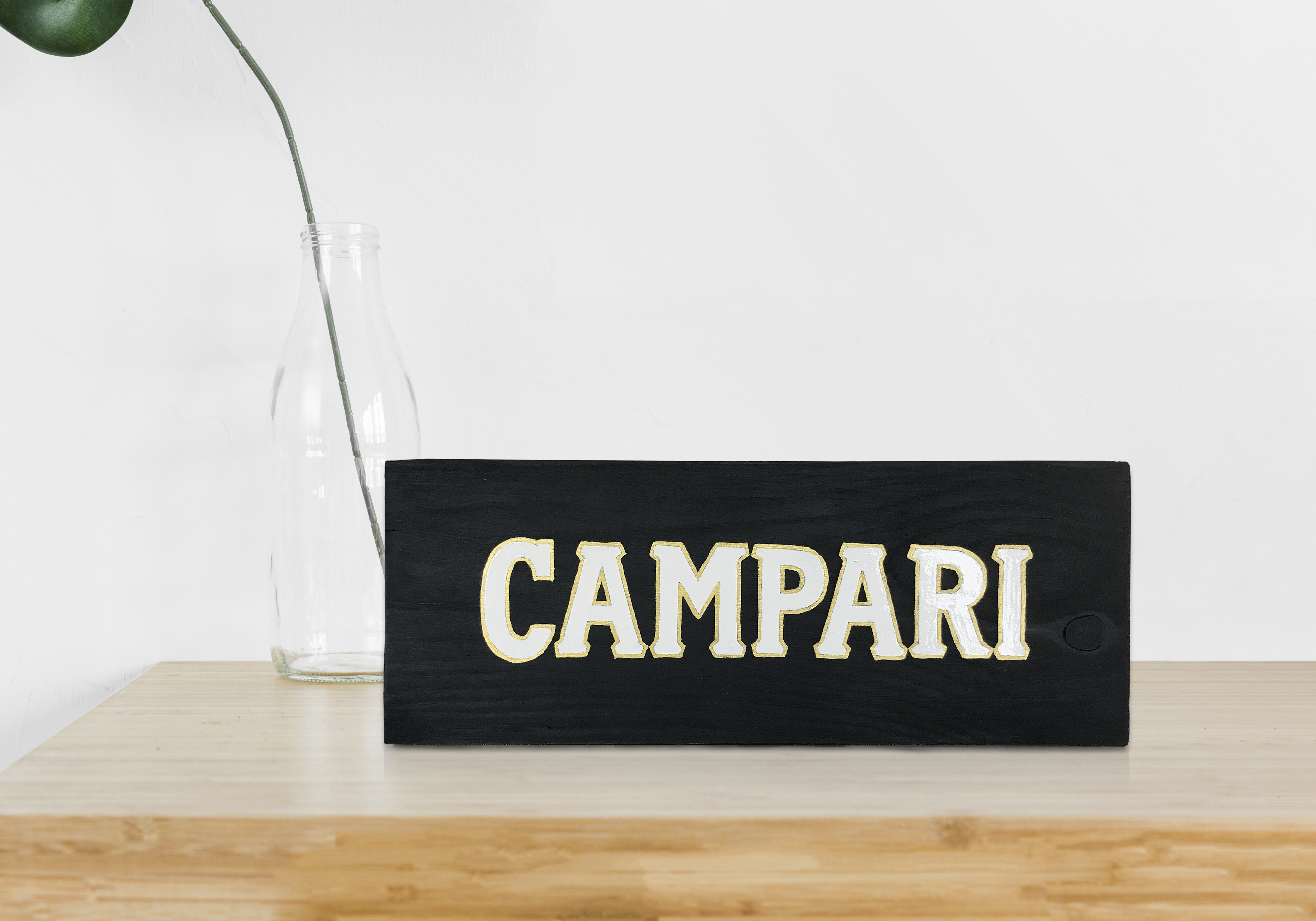 CAMPARI WOOD SIGN 100€