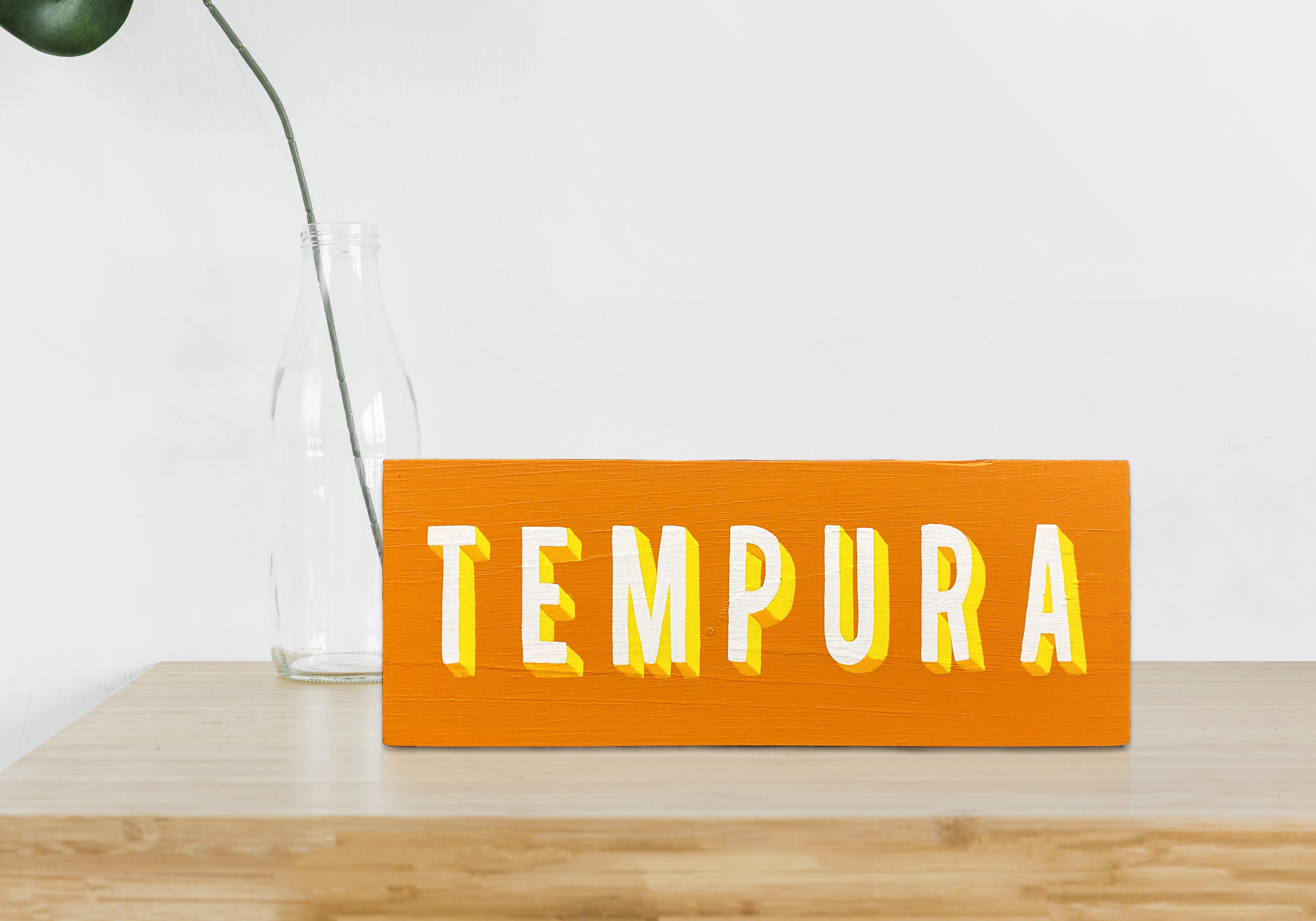 TEMPURA WOOD SIGN 100€